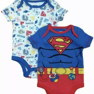 DC Comics Infant Boys 2pc Superman Bodysuit Set
